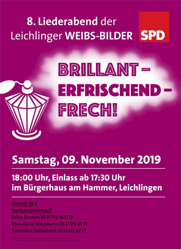 8. Liederabend der Leichlinger WEIBS-BILDER: BRILLANT - ERFRISCHEND - FRECH