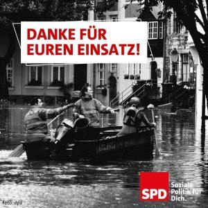 Liebe Einsatzkräfte, Danke für Euren Einsatz beim Hochwasser!